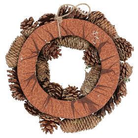 Christmas wreath advent wreath gold 30 cm s4