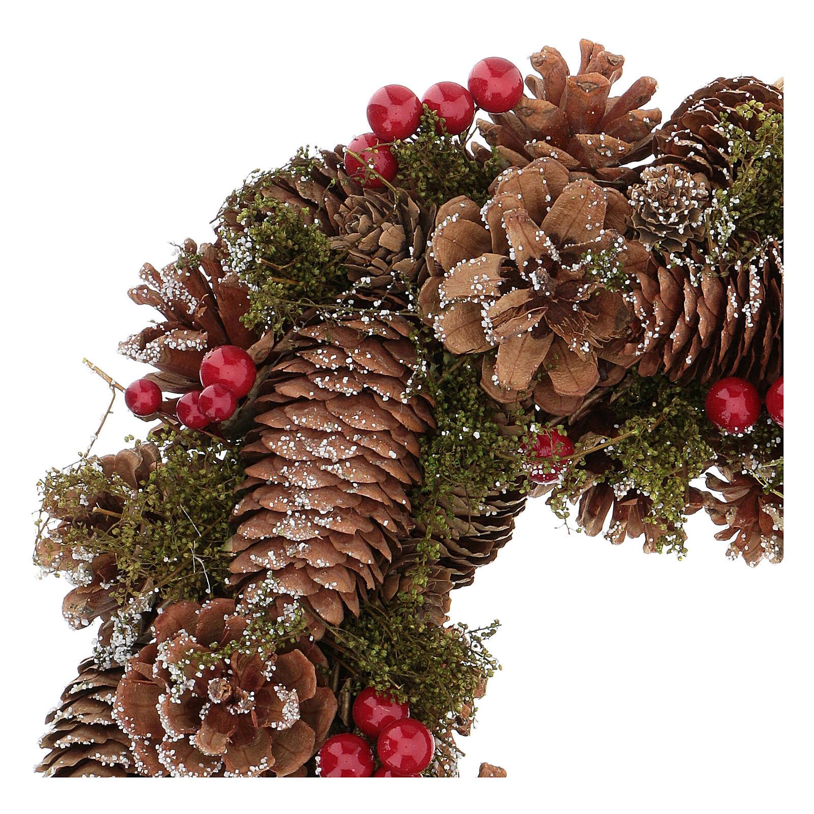 Advent wreath snow effect 30 cm 3