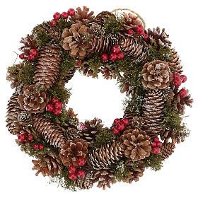 Advent wreath snow effect 30 cm s1