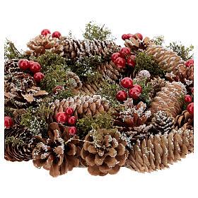 Advent wreath snow effect 30 cm s3