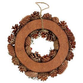 Advent wreath snow effect 30 cm s4