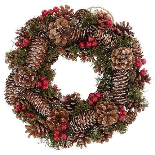 Advent wreath snow effect 30 cm 1