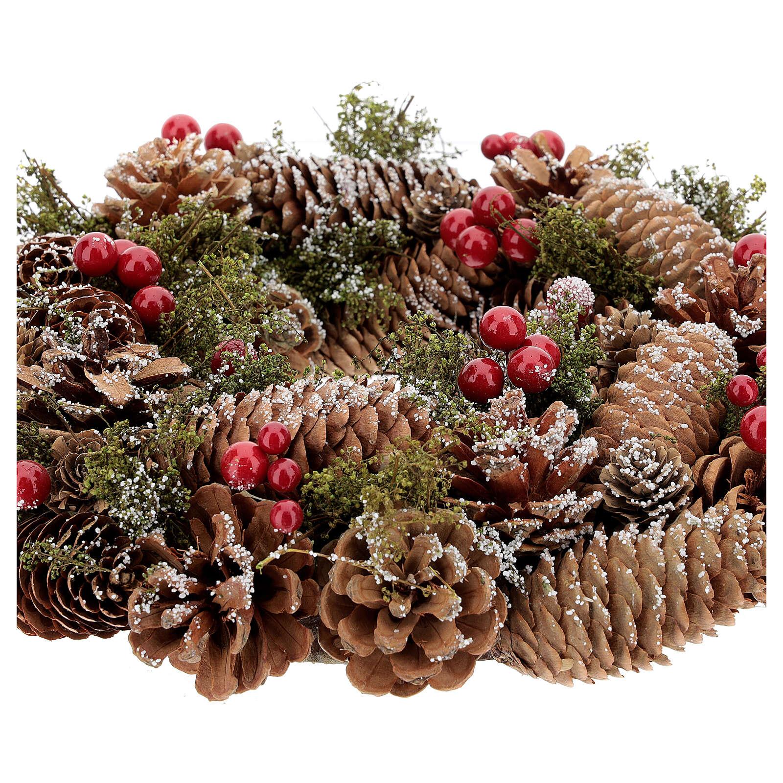 Christmas wreath advent wreath snow effect 30 cm 3