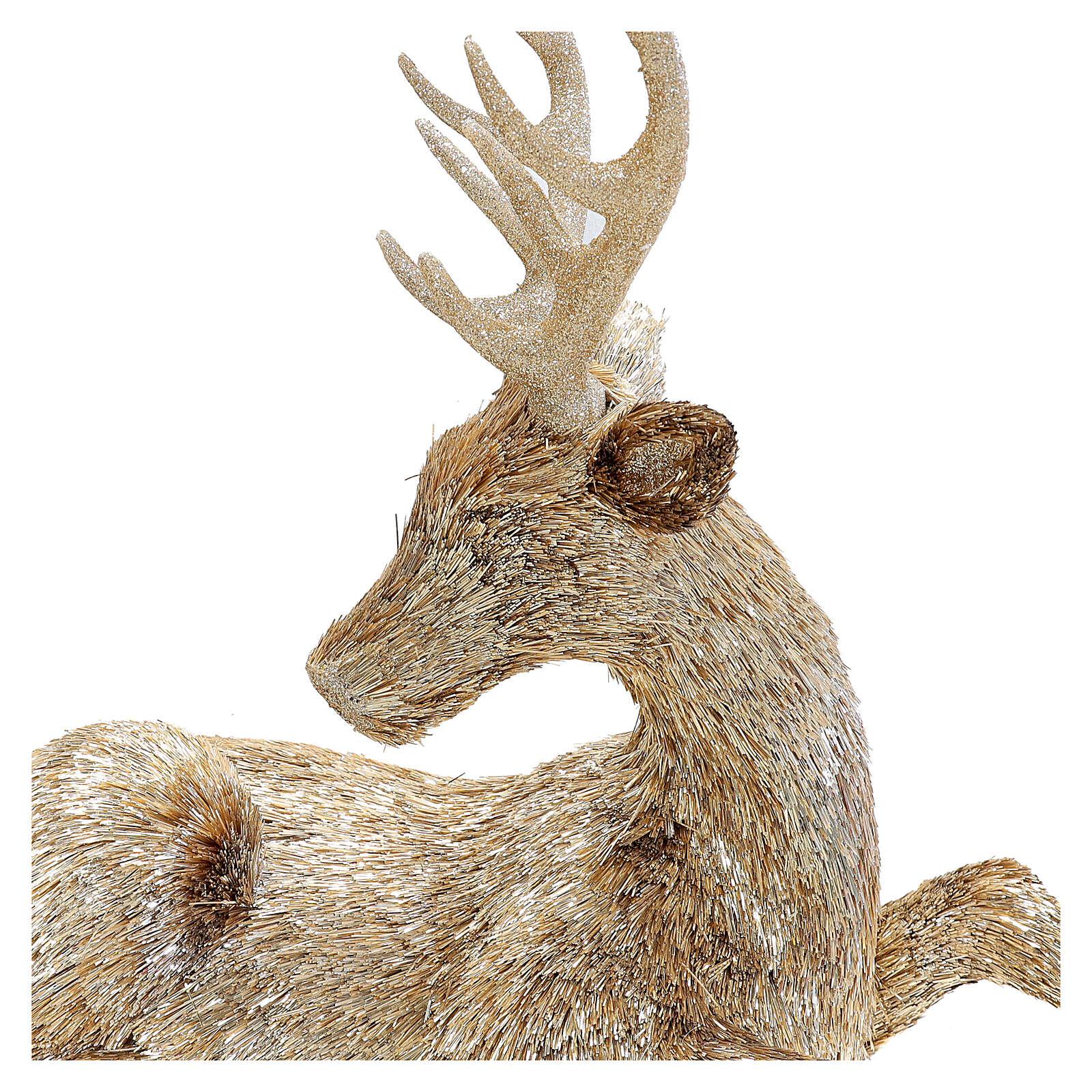 Christmas Large Gold Glitter Reindeer Earrings New Stocking Filler Boho Luxury