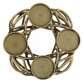 Corona Avvento metallo dorato  s1