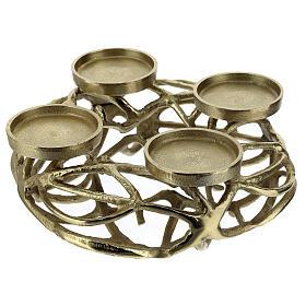 Corona Avvento metallo dorato  s2