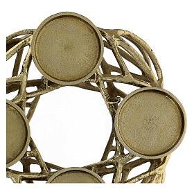 Corona Avvento metallo dorato  s3