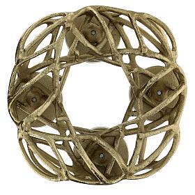 Corona Avvento metallo dorato  s5
