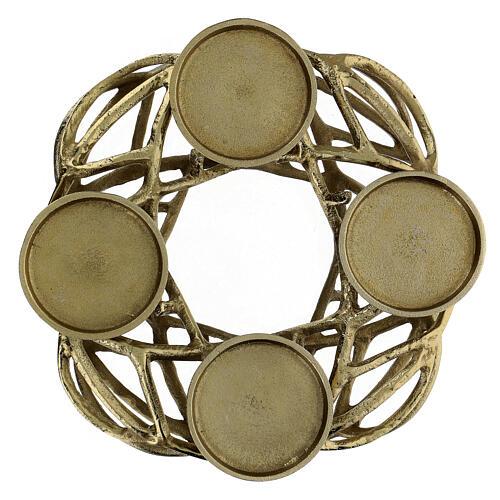 Corona Avvento metallo dorato  1