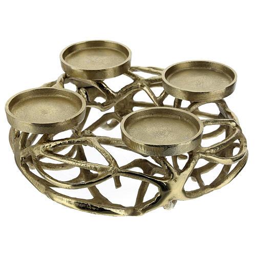 Corona Avvento metallo dorato  2