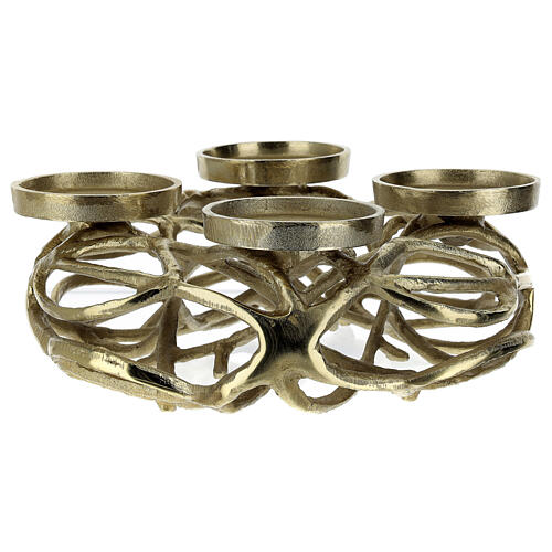 Corona Avvento metallo dorato  4
