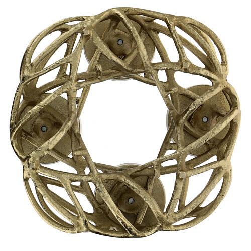 Corona Avvento metallo dorato  5