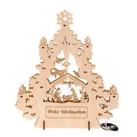 Christmas tree crib with lights s4