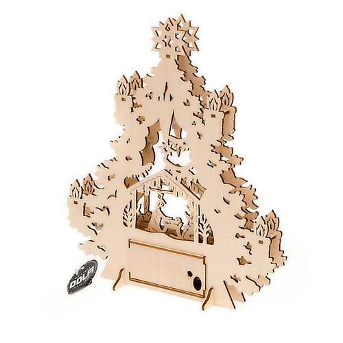 Christmas tree crib with lights 3