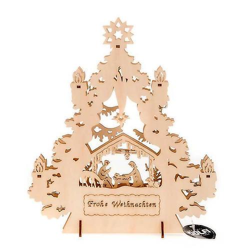 Christmas tree crib with lights 4