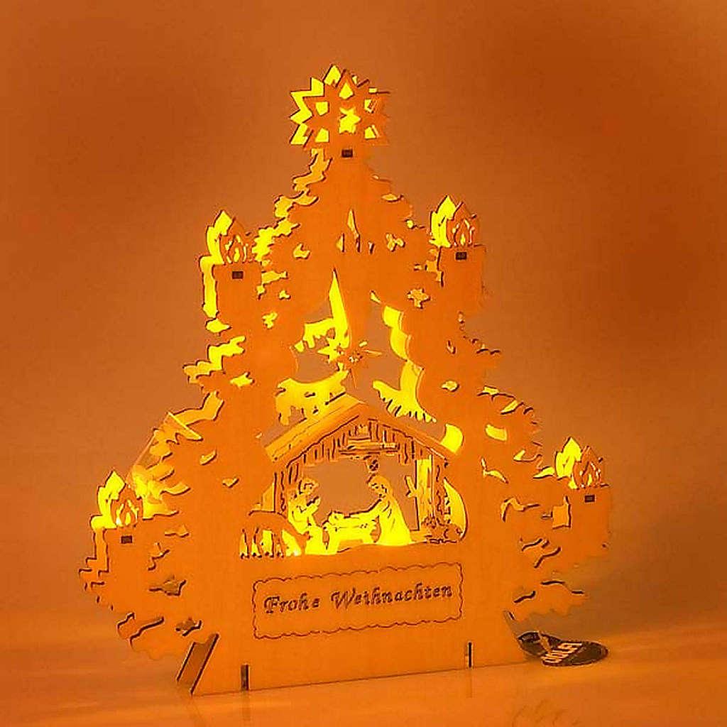 Presepe albero con luci 4