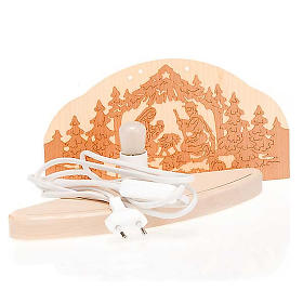 Lit-up wooden nativity scene s3