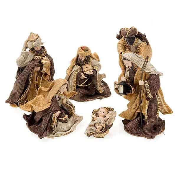 Hemp nativity set,15 cm 4