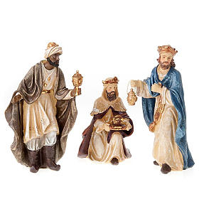 Painted resin Nativity scene 22 cm s3