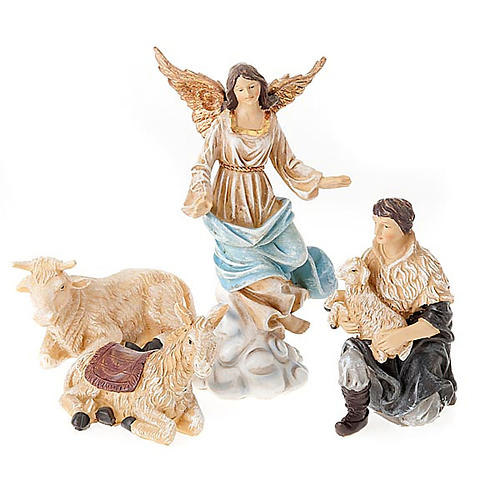 Painted resin Nativity scene 22 cm 2