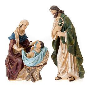 Painted resin Nativity scene 22 cm s4