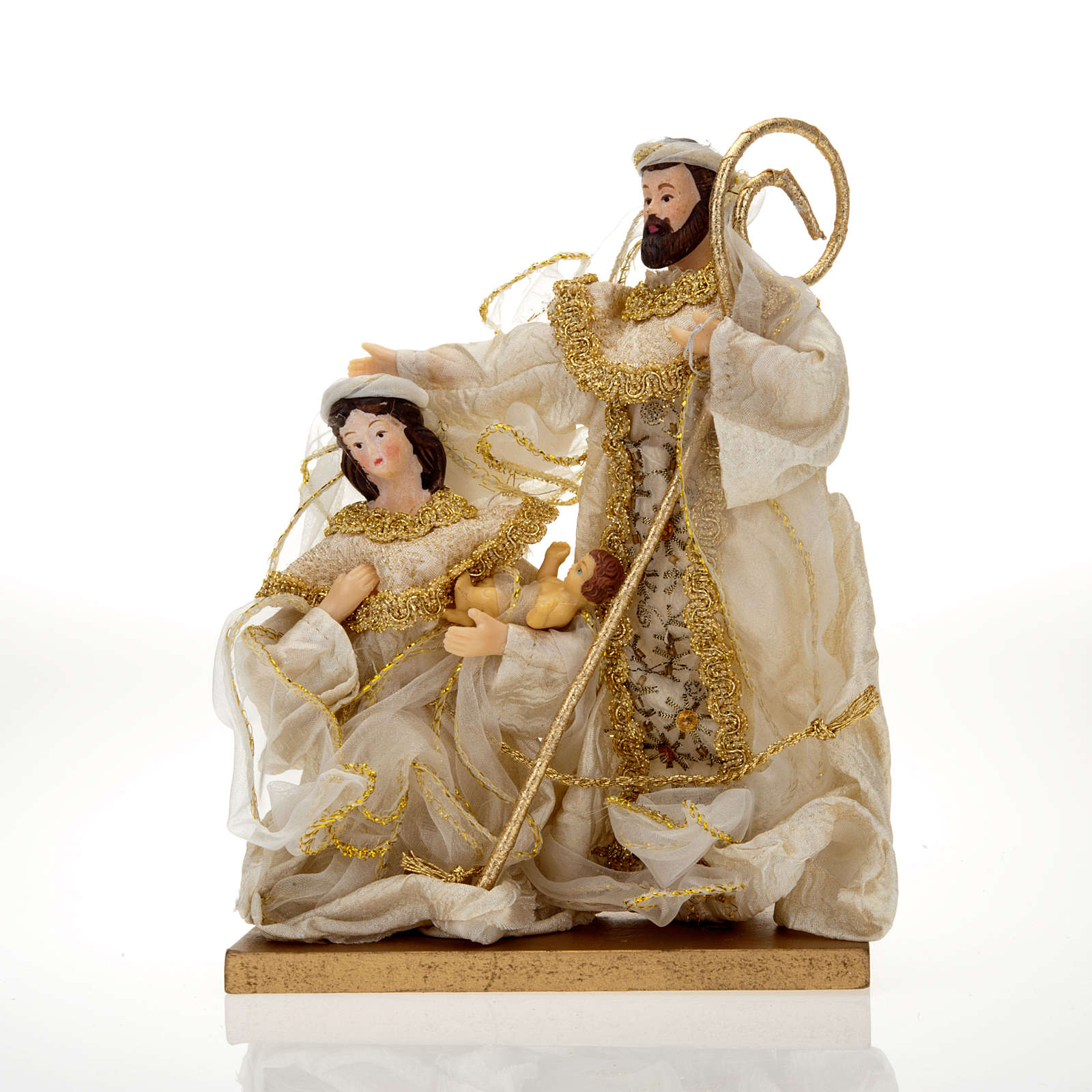 White and gold nativity set, 20cm 4