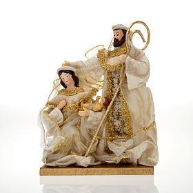 White and gold nativity set, 20cm s1