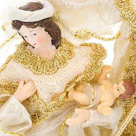 White and gold nativity set, 20cm s4