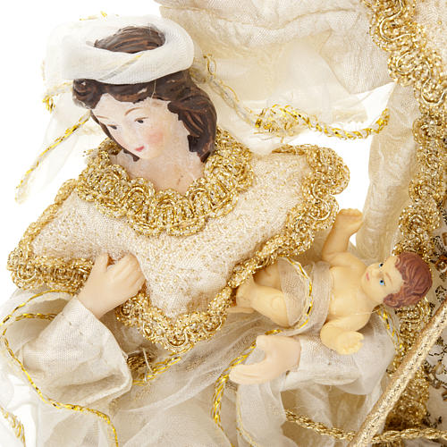 White and gold nativity set, 20cm 3