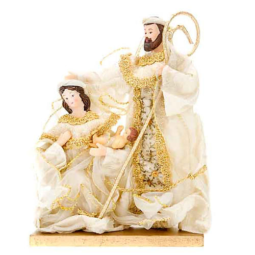 White and gold nativity set, 20cm 2