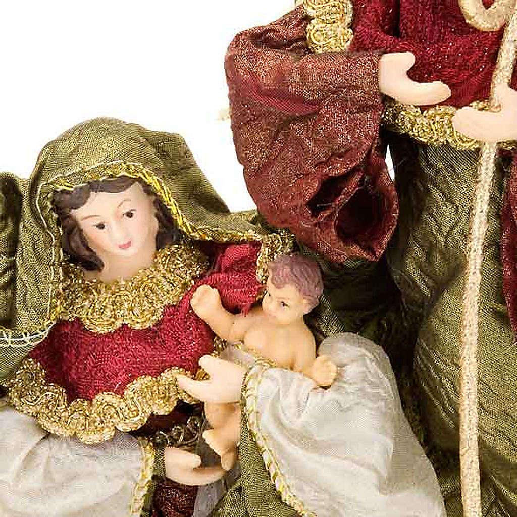 Nativité,20 cm en bordeaux et vert 4