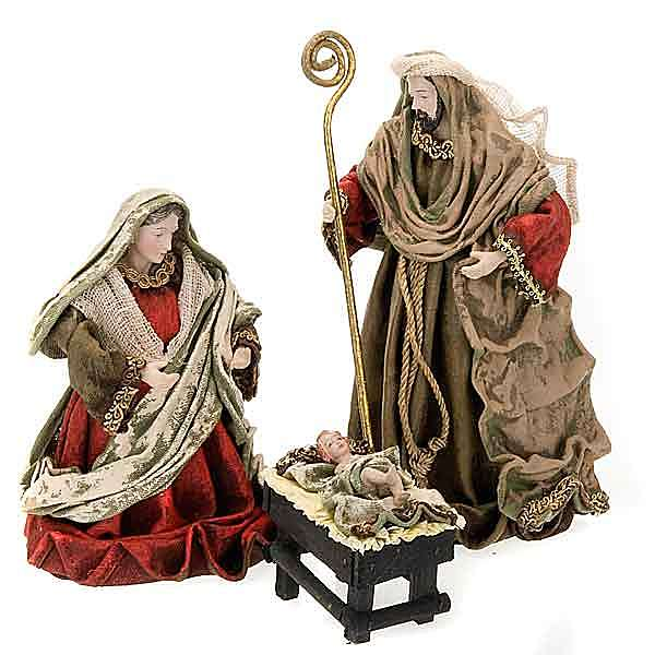 Aged effect nativity, 25cm 4