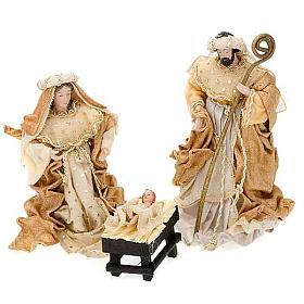 Nativité,25 cm en couleur crème et or s1
