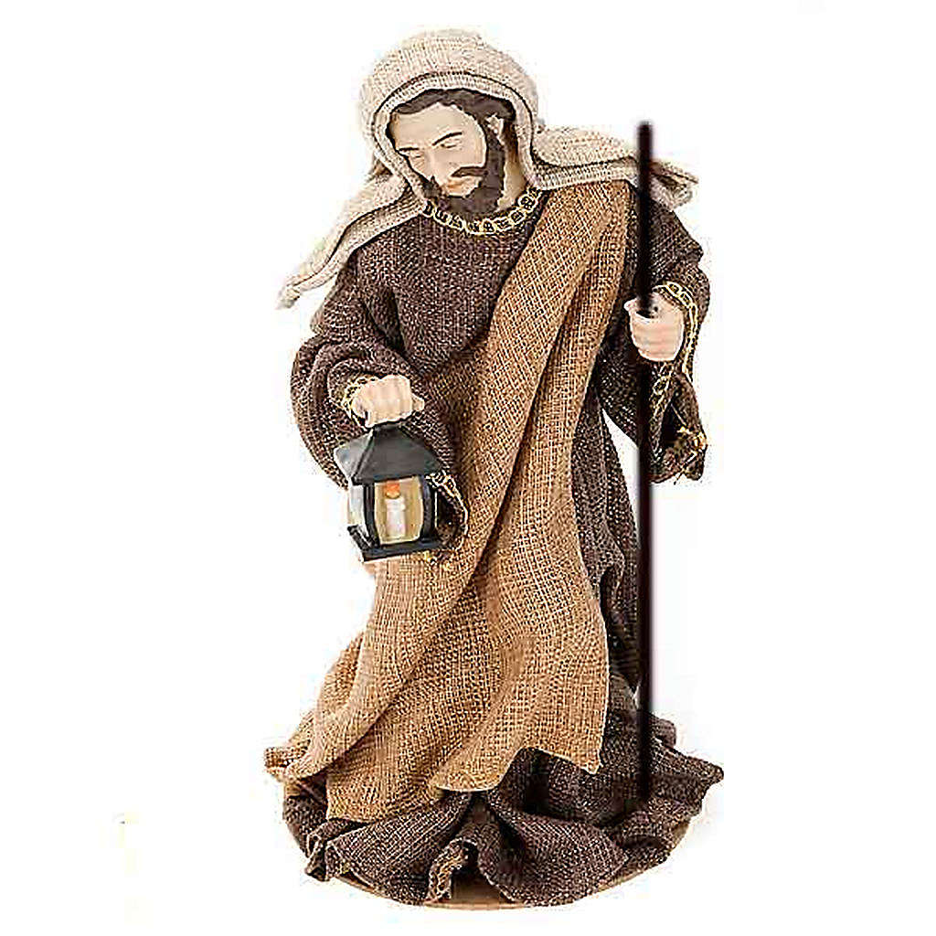 Golden hemp nativity set, 33cm 4