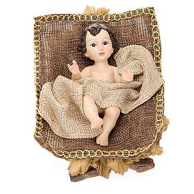 Golden hemp nativity set, 33cm s3