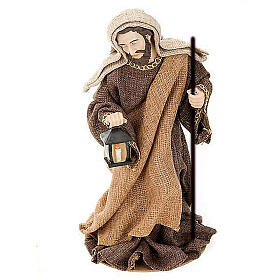 Golden hemp nativity set, 33cm s4