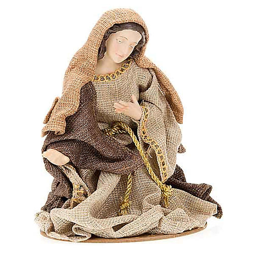 Golden hemp nativity set, 33cm 2