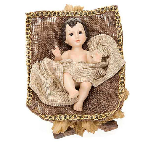 Golden hemp nativity set, 33cm 3