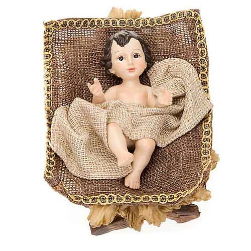 Golden hemp nativity set, 33cm 3