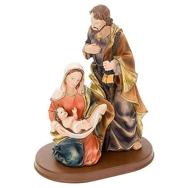 Nativité,28 cm base en bois 4