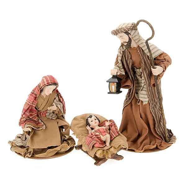 Cotton nativity set, 33cm 4