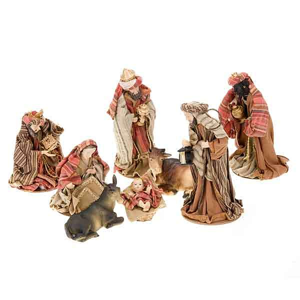Cotton Nativity scene 15 cm 4