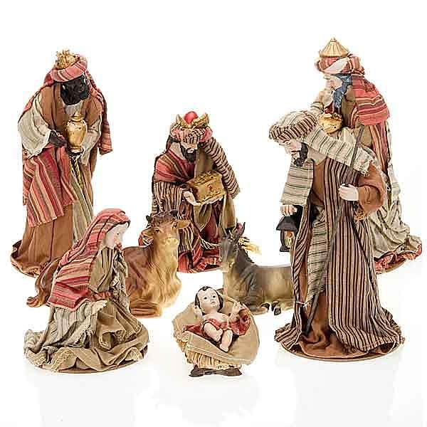 Nativité,22 cm en coton 4