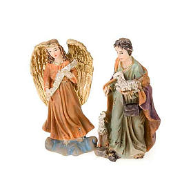 Mini nativity scene hand-painted resin 5 cm s4