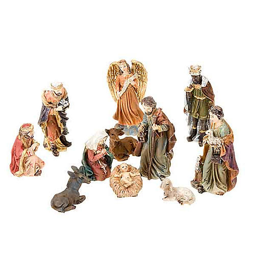 Mini nativity scene hand-painted resin 5 cm 1