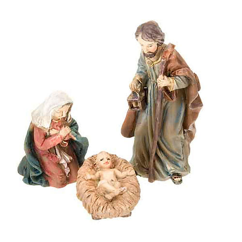 Mini nativity scene hand-painted resin 5 cm 3
