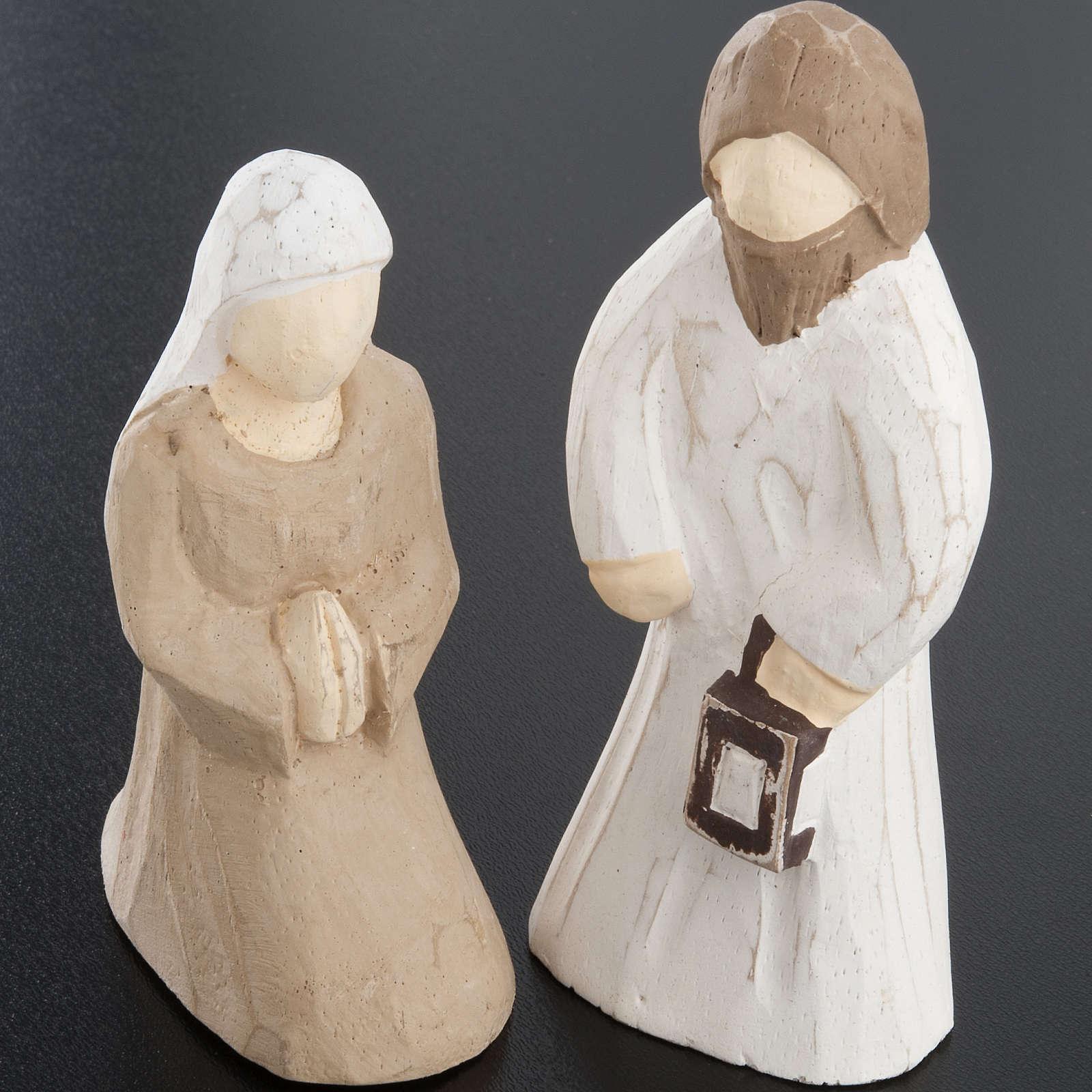 Presepe stilizzato in legno 10.5 cm 4
