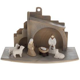 Presepe stilizzato in legno 10.5 cm s1