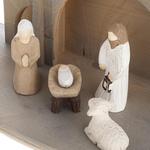 Presepe stilizzato in legno 10.5 cm 3