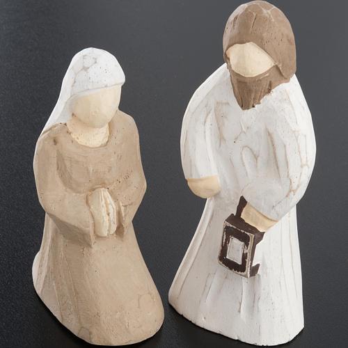 Presepe stilizzato in legno 10.5 cm 7